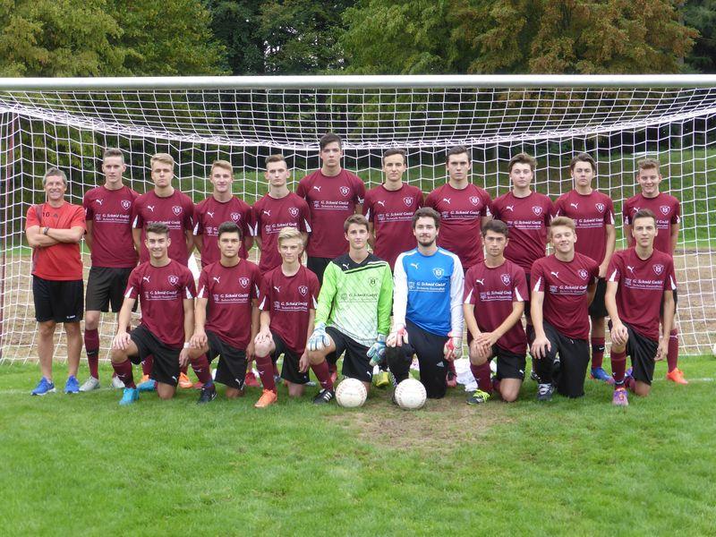 A-Jugend Mannschaftsbild Saison 2016-2017