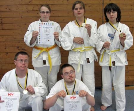Siegerehrung Judo versch. Gewichtsklassen