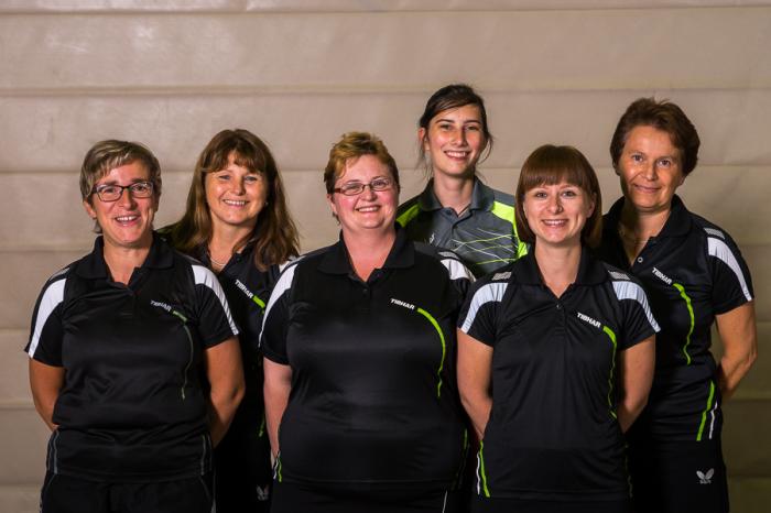 Damenmannschaft TV Hochdorf Tischtennis